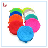 New Cute Round Flower Silicone Rubber Coin Purse Wallet