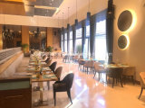Restaurant Booth Sofa Wooden Table with Cheap Price for 5 Star Hotel