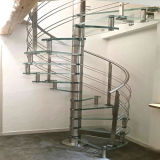 High Quality Stainless Steel Wood Spiral Stairs