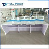 Artificial Stone Office Employee Working Partition Desk