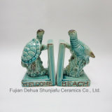 Ceramic Bookends with Little Turtle for Home Decoration