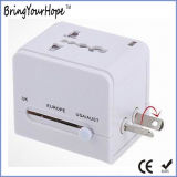 Universal Travel USB Charger AC/DC Power Adaptor in White (XH-UC-026)