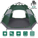3-4 Person Pop up Family Tent Double Layer Waterproof 4 Season Backpacking Tent for Picnic Hiking Fishing Traveling