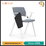 Armrest Stackable Training Conference Office Chair with Writing Table Pad