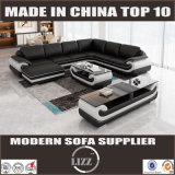 Genuine Leather L Shape Sofa (Lz1488-1)