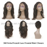 360 Lace Frontal Closure Brazilian Body Wave Closure Free Part Baby Hair Around Remy Human Hair