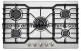 Five Burner Gas Hob with Stainless Steel Panel Kitchen Appliance (JZG5822)