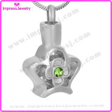 Ashes Locket Hollowed Flower Pendant with Crystal Ijd9684