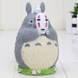 Movie My Neighbor Totoro with Mask No Face PVC Figurel Toy Piggy Bank 10cm