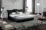 Hot Selling Genuine Leather Bed (SBT-5820)