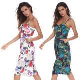 Ladies Jumpsuit Floral Tankini Skirt Sexy Fashion Conjioned Dress Costume