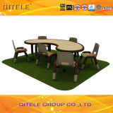 School Children Wooden Table with Stainless Steel Table Leg (IFP-032)
