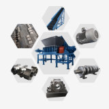 Automatic PLC Control Waste Tire Shredder for Sale