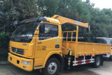 4X2 Lorry Truck Mounted with 3 Tons Straight Arm Crane Price