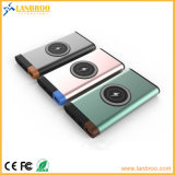 Color-Mixed Aluminum-Alloy Wireless Power Bank with USB Output Port 10000mAh