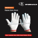 K-71 50g/Pair Knitted Labor Protected Work Safety Nylon Cotton Gloves