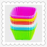 Hot Sale Colorful Muffin Silicone Cake Mold