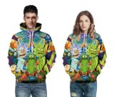 Fashion 3D Printing Lovers Hoodie Pattern Clothes Active Wear