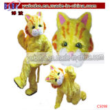 Tiger Adult Halloween Cartoon Mascot Costume Fancy Dress (C5098)