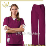 Cheap Price Waterproof Disposable Hospital Medical Scrub Uniforms, 100% Polyester Scrubs