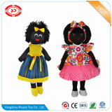 Boy Knitted Material Stuffed Cotton Black Golliwog Doll
