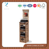 Custom Floor Structure Wooden Display Stand for Wine