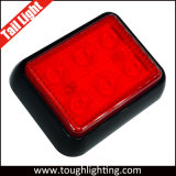"E-MARK Approved 3.93"" Square LED Truck Trailer Light Lamps with 6 LEDs"