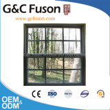 Vertical Opening Aluminium Window with Grill Design