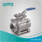 3 Piece 304 316 ISO 5211 Bsp Stainless Steel Ball Valve