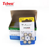 Tcbest 1.4V/1.45mAh Zinc Air Battery A675 Za675 675 6PCS/Blister Pack for Hearing Aid (A10/A13/A312/A675) OEM Accepted