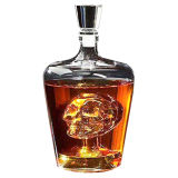 High Borosilicate Glass Skull Bottle 1000ml Spirit Wine Bottle