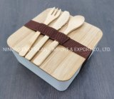 2020 New Eco-Friendly Bamboo Fiber Bento Lunch Box with Bamboo Lid with Knife Fork Spoon Set