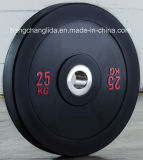 Olympic Rubber Barbell Plate Weight Lifting Bumper Plate Gym Weight Disc