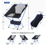 High Strength Aviation Aluminum Alloy Ultralight Deep Blue Beach Folding Chair