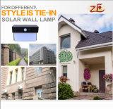 2018 ABS Solar Outdoor Wall Lamp for Villa House Solar Wall Light