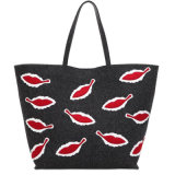 Medium Soft Felt Velvet Tote Bag for Ladies