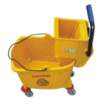 Side Press Mop Bucket with Wringer Wringer Bucket Trolley with Wheels for House, Hotel, Office, Restaurant