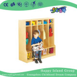 School Children Natural Wooden Cabinet for Clothes (HG-4607)