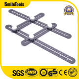 Amazon Hot Sale Aluminum Alloy Multi Angle Measuring Ruler of Angleizer Template Tool