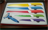 6PCS Colorful Coating Stainless Steel Kitchen Knife Set