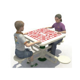 Chatting Galvanized Steel Material Chinese Outdoor Chess Table for Elder