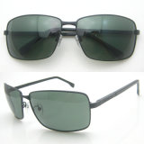 Black Metal Frame UV400 Polarized Lens Sunglasses