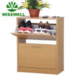 Wooden 2 Racks Cupboard Shelf Shoe Storage Cabinet
