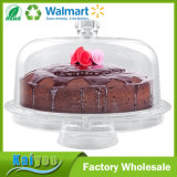 Wholesale Multifunctional Cake and Serving Stand with Lid, Clear