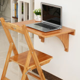 Bamboo Folding Wall Table in Dining Room