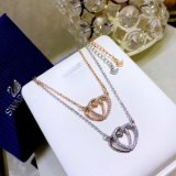 Lady Necklace Cross Heart Crystal Necklace