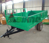 3 Ton/5 Ton 3 Sides Tipping Agricultural Tractor-Mounted Hydraulic Tip Trailer Farm Tractor Trailer