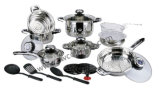 21PCS Stainless Steel Cookware Set with Nylon Tools