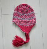 Hot Sale Acrylic Promotion Lady Winter Knitted Hat (HY16070814)