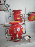 Ca Fire Water Motor Gong SS304 Brass Pressure Gauge Alarm Valve